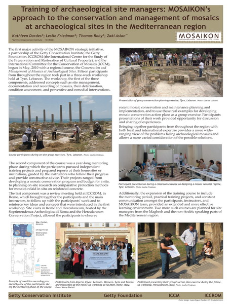 Dardes et al._Training pf archaeological site managers. MOSAIKON