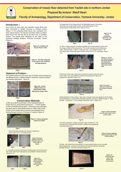 Hwari_Conservation of Mosaic Floors Detached from the Site of Yasileh, Jordan