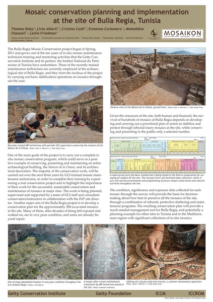 Roby et al._Mosaic conservation planning and implementation at the site of Bulla Regia, Tunisia