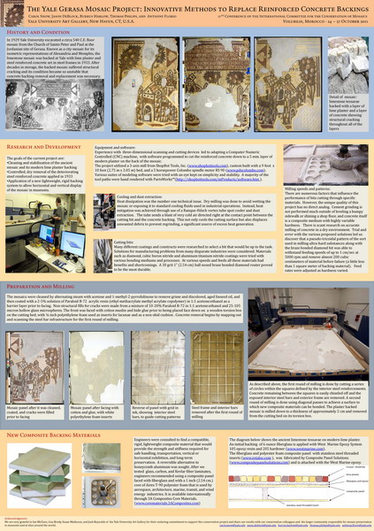 Snow et al._The Yale Gerasa Mosaic Project. Innovative methods to replace reinforced concrete backings