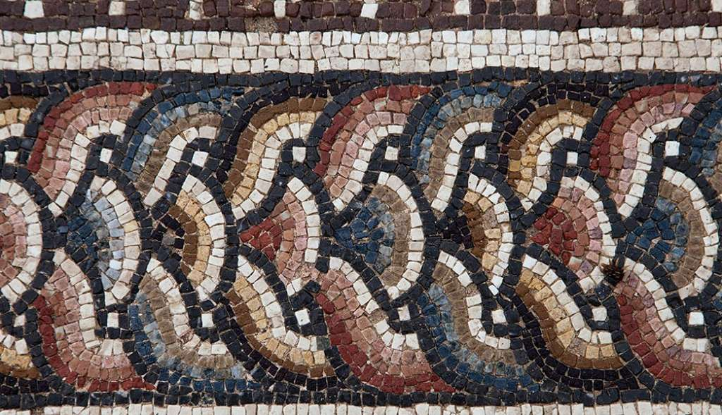 Detail of a mosaic, Bulla Regia, Tunisia