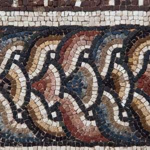 Detail of a mosaic, Bulla Regia, Tunisia