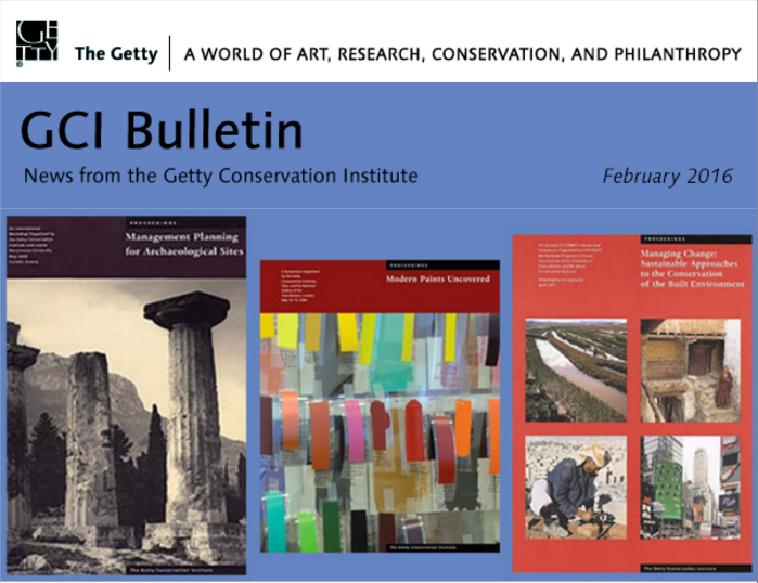 New GCI publications available on line